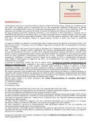 Relazione dell'Assessore al bilancio - Comune di Desenzano del ...