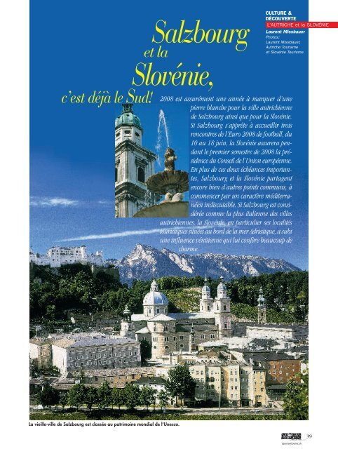 Salzbourg Slovénie, - Magazine Sports et Loisirs