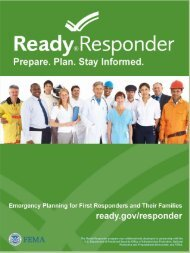 Ready Responder Toolkit, Emergency Planning for First ... - Ready.gov