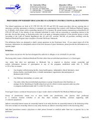 provider ownership disclosure statement ... - The Health Plan