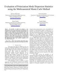 Evaluation of Polarization Mode Dispersion Statistics using the ...
