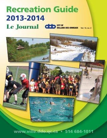 2013-2014 Recreation guide - Ville de Dollard-des-Ormeaux