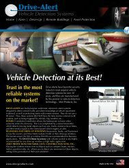 Drive Alert Vehicle Detection Systems