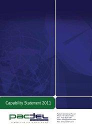 Capability Statement 2011 - Pactel International