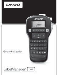 LabelManager 160 User Guide - DYMO