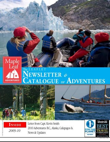 2010 Catalog and Newsletter - Maple Leaf Adventures