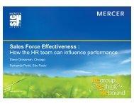 Sales Force Effectiveness - Mercer Signature Events