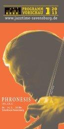 Jazztime Programm Frühjahr 2013