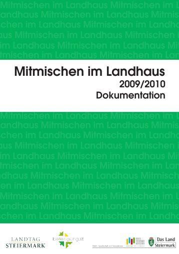 Mitmischen im Landhaus 2009/2010 - Beteiligung.st