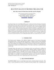REACTIVITY BALANCE IN THE IPR-R1 TRIGA REACTOR