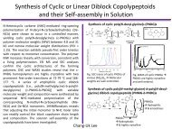 Synthesis and solution self-assembly of cyclic and linear block ...