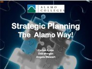 Alamo Community College District: Strategic Planning - Quality Texas