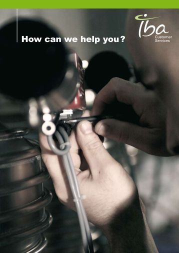 How can we help you ? - IBA Industrial