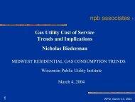 Nick Biederman, npb Associates - Wisconsin Public Utility Institute