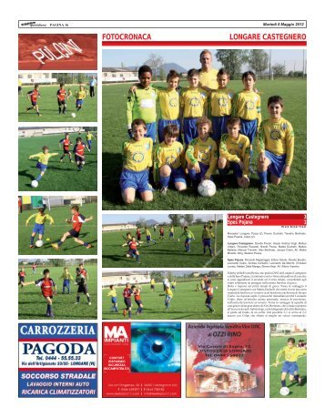FOTOCRONACA LONGARE CASTEGNERO - SPORTquotidiano