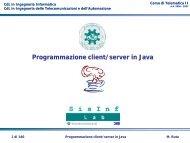 Programmazione client/server in Java - fondamenti - SisInf Lab