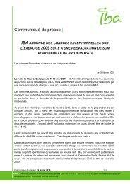 100219 IBA PR - R&D portfolio revaluation - FR - Why IBA | Proton ...