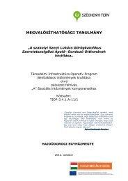 Megvalosithatosagi tanulmany.pdf - Magyar Görögkatolikus Egyház