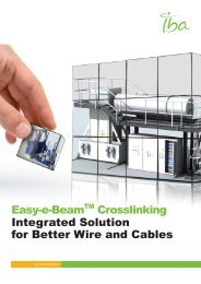 Easy-e-BeamTM Crosslinking Integrated Solution for ... - IBA Industrial