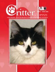 ALL PAGES-FEBRUARY 2012 - Critter Magazine