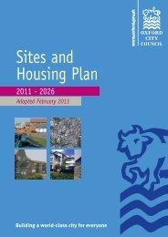 Sites & Housing Plan - Inspectors Report - Oxford City Council