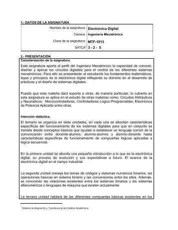 FA IMCT-2010-229 Electronica Digital.pdf - Instituto Tecnológico de ...