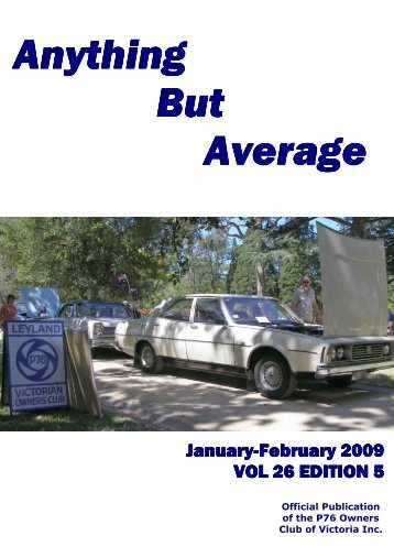 Jan / Feb 09 - Leyland P76 Club of Victoria