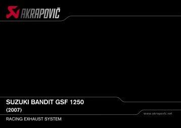suzuki bandit gsf 1250 (2007) racing exhaust system - Holtugmc.dk
