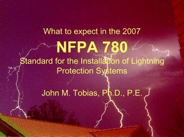 NFPA 780 - Lightning Protection Institute