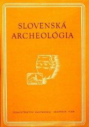 SLOVENSKÁ ARCHELÓGIA