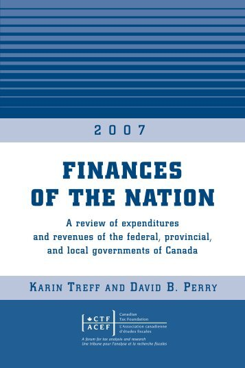 FINANCES OF THE NATION - Canadian Tax Foundation