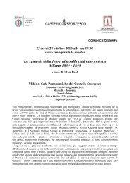 comunicato stampa - Castello Sforzesco