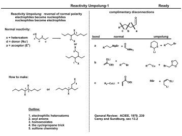 Reactivity Umpolung-1 Ready - UT Southwestern