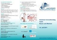 Aachener Innovationstag Textil - Institut für Textiltechnik - RWTH ...