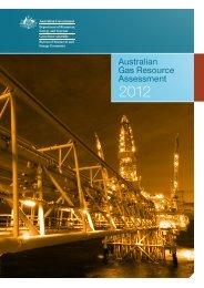 Australian Gas resource assessment 2012 - Bureau of Resources ...