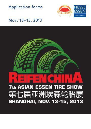 Application forms Nov. 13–15, 2013 - Reifen China