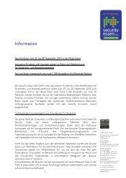 Security Essen vom 25. bis 28. September 2012 in der Messe Essen ...
