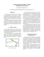 Numerical Simulation of Micro-Assembly Techniques in MEMS ...