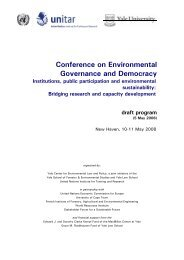 Conference Program - Yale Center for Environmental Law & Policy