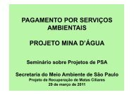 Projeto Mina D'água - SIGAM