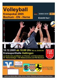 Spielplan Endrunde - Volleyballkreis Bochum