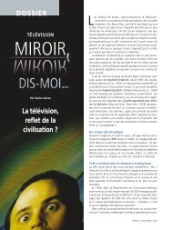 La télévision, reflet de la civilisation - Université du Québec
