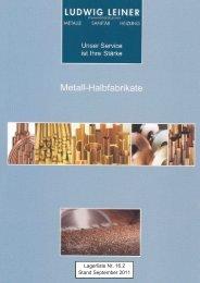 online Lagerliste 16.2 september 2011 - Ludwig Leiner KG