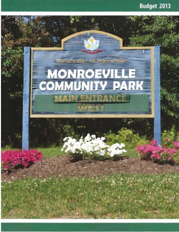 2013 Proposed Municipal Budget - Monroeville