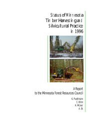 Status of Minnesota Timber Harvesting and Silvicultural Practice in ...
