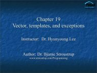 Vector, Templates, and Exceptions - TAMU Computer Science ...