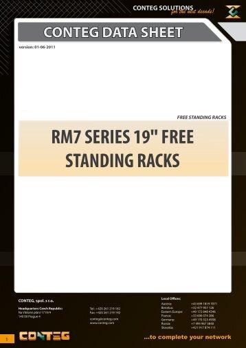 "RM7 SERIES 19"" FREE STANDING RACKS - Conteg"