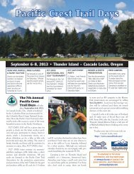 PCT Days 2013 Flyer - Pacific Crest Trail Association