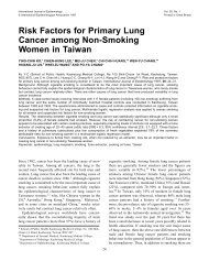 Risk Factors for Primary Lung Cancer among Non-Smoking Women ...