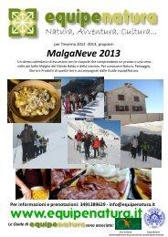 Programma MalgaNeve 2013 - Azienda per il Turismo Rovereto e ...